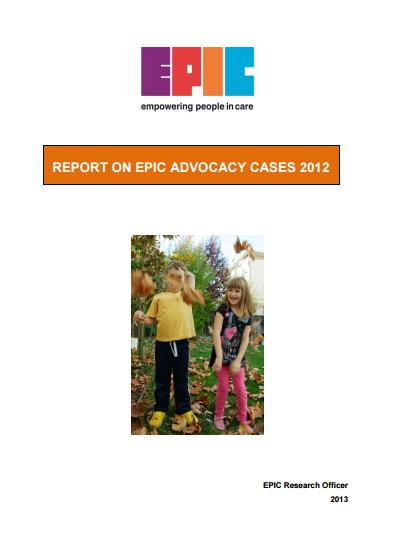 Report on EPIC Advocacy Cases 2012